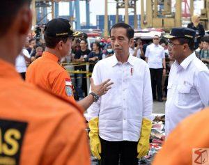 FOTO: Presiden Jokowi Datangi Posko Evakuasi Korban Lion Air JT-610