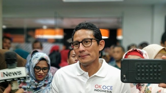 sandiaga uno jadi host tv