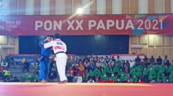 PON XX 2021: Judoka Jatim kalahkan Sulsel di Judo Putra 60 kg